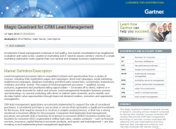 2015 Gartner Magic Quadrant for Lead Management